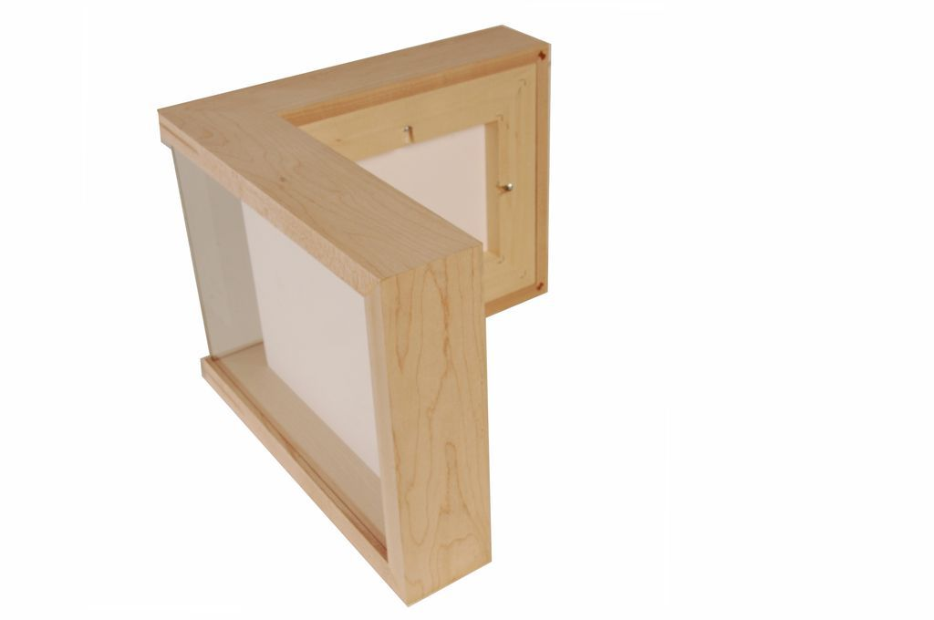 Prototype of custom corner frame side view