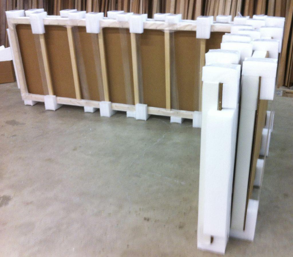 Prepackaging with ethafoam corners