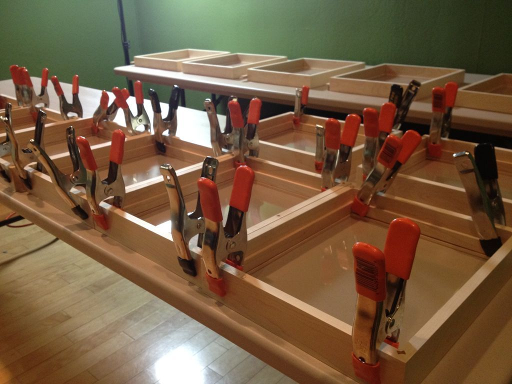 Attaching spacers with clamps