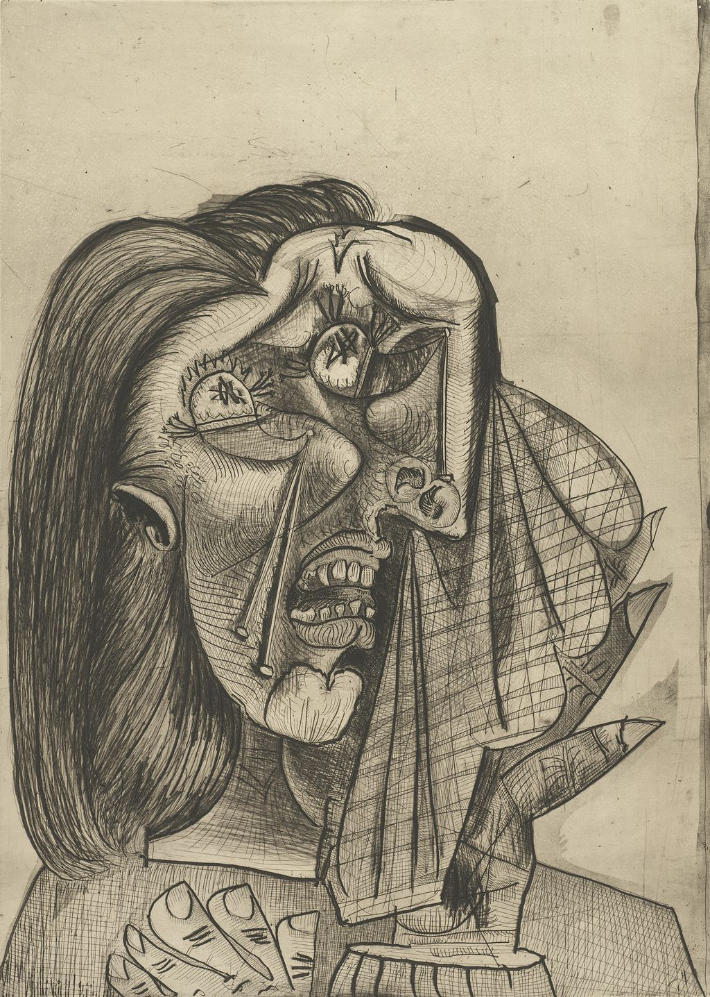 Pablo Picasso. Weeping Woman I, 1937. The Art Institute of Chicago, through prior acquisition of the Martin A. Ryerson Collection with the assistance of the Noel and Florence Rothman Family and the Margaret Fisher Endowment. © 2013 Estate of Pablo Picasso / Artists Rights Society (ARS), New York.