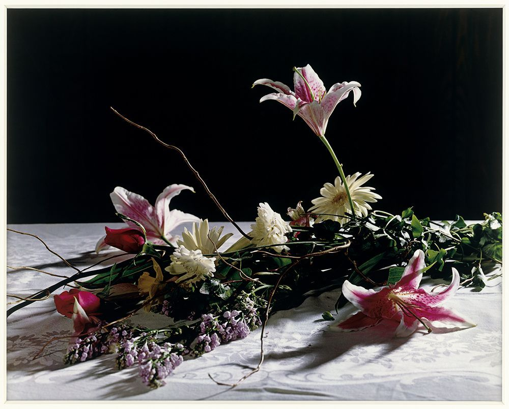 Christopher Williams. Bouquet for Bas Jan Ader and Christopher D'Arcangelo, 1991. Lorrin and Deane Wong Family Trust, Los Angeles. © Christopher Williams. Courtesy of the artist; David Zwirner, New York/London; and Galerie Gisela Capitain, Cologne.