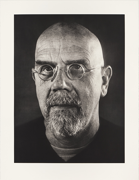 "Chuck Close Self Portrait/Photogravure  54 1/4"" x 40 5/8"" 2005 copyright USF Graphicstudio Photo: Will Lytch"