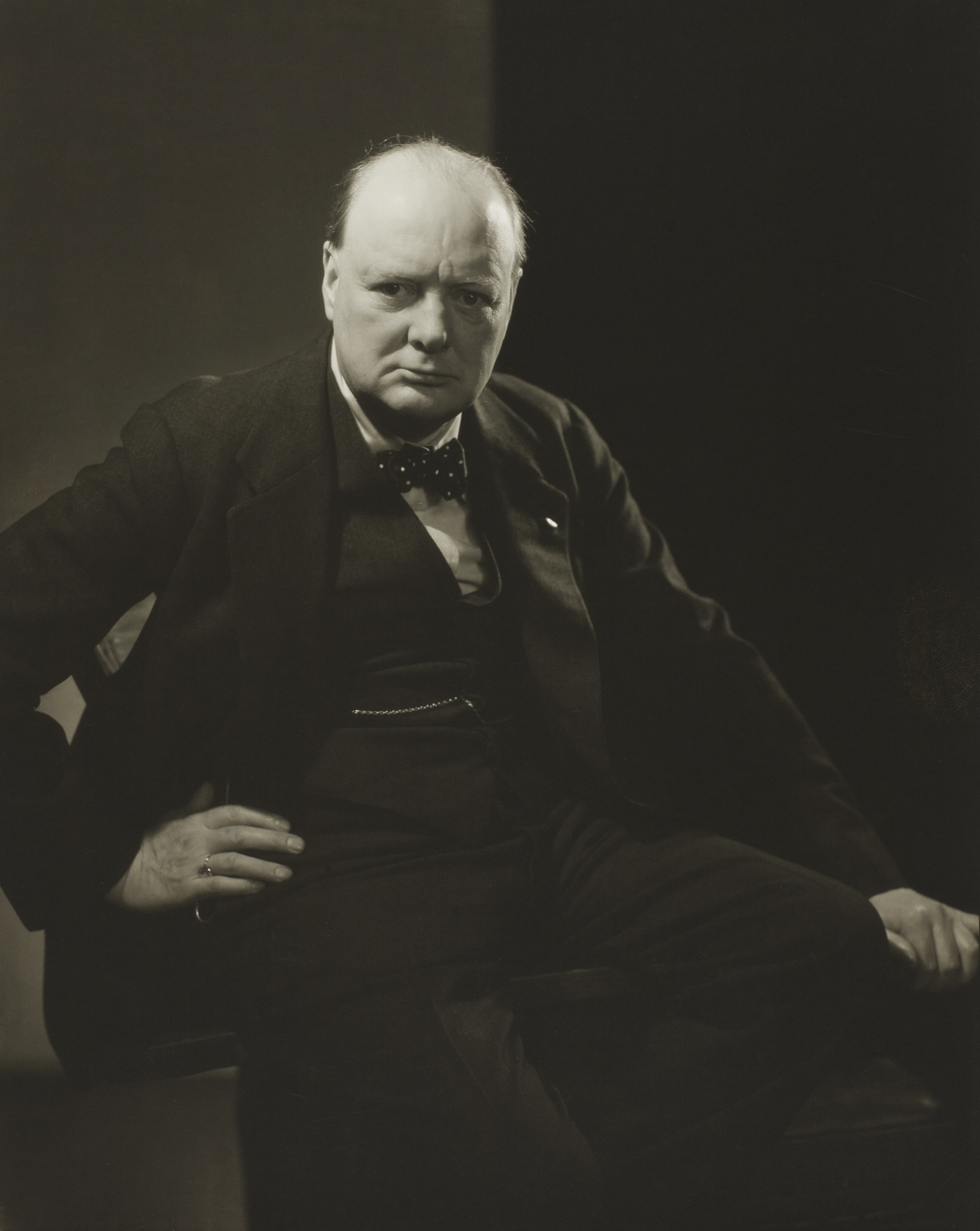 Edward Steichen. Winston Churchill, 1932. The Art Institute of Chicago, Bequest of Edward Steichen by direction of Joanna T. Steichen and George Eastman House. © 2014 The Estate of Edward Steichen/Artists Rights Society (ARS), New York.