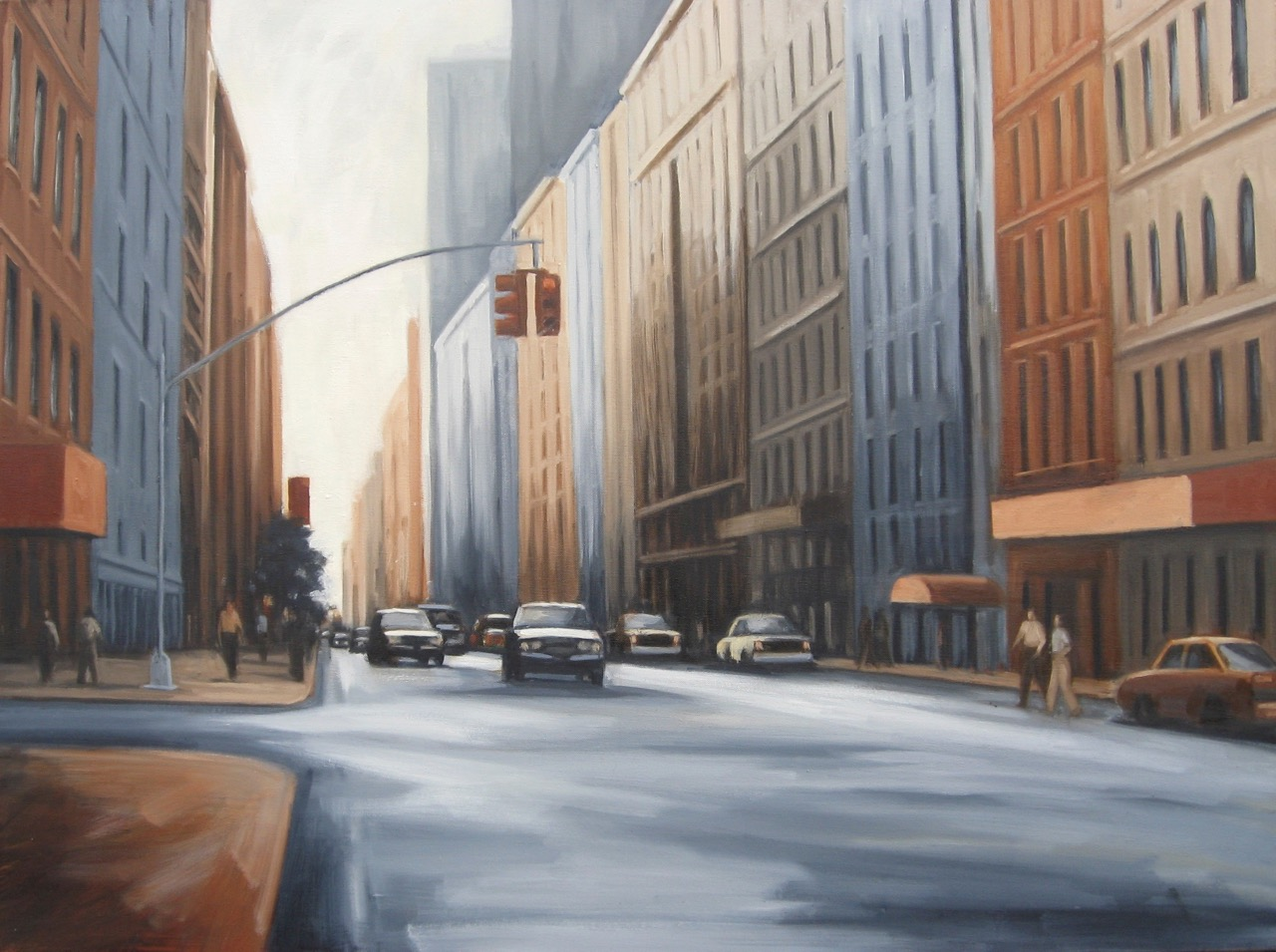 """Katherine Weiss, """"Crosstown Street"""", oil on canvas, 30 x 40 inches"""