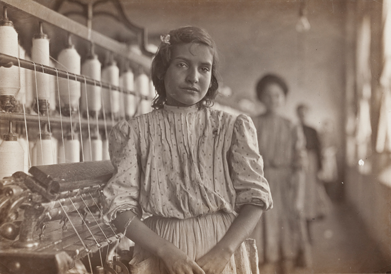 Lewis Wickes Hine American, 1874?1940 A Carolina Spinner 1908 Gelatin silver print 4 11/16 x 6 5/8 in. (11.91 x 16.83 cm) Milwaukee Art Museum, Gift of the Sheldon M. Barnett Family M1973.83                                                     Photo by John R. Glembin