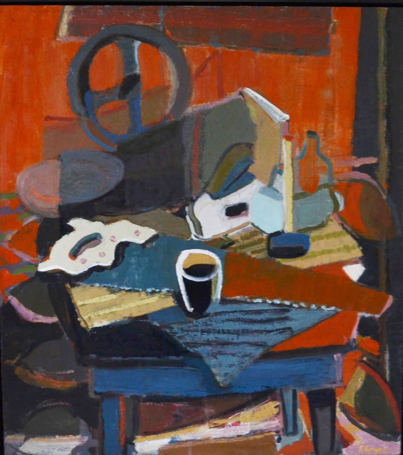 """""""Still Life with Tools"""", 40"""" X 36"""", oil on linen, 2015"""