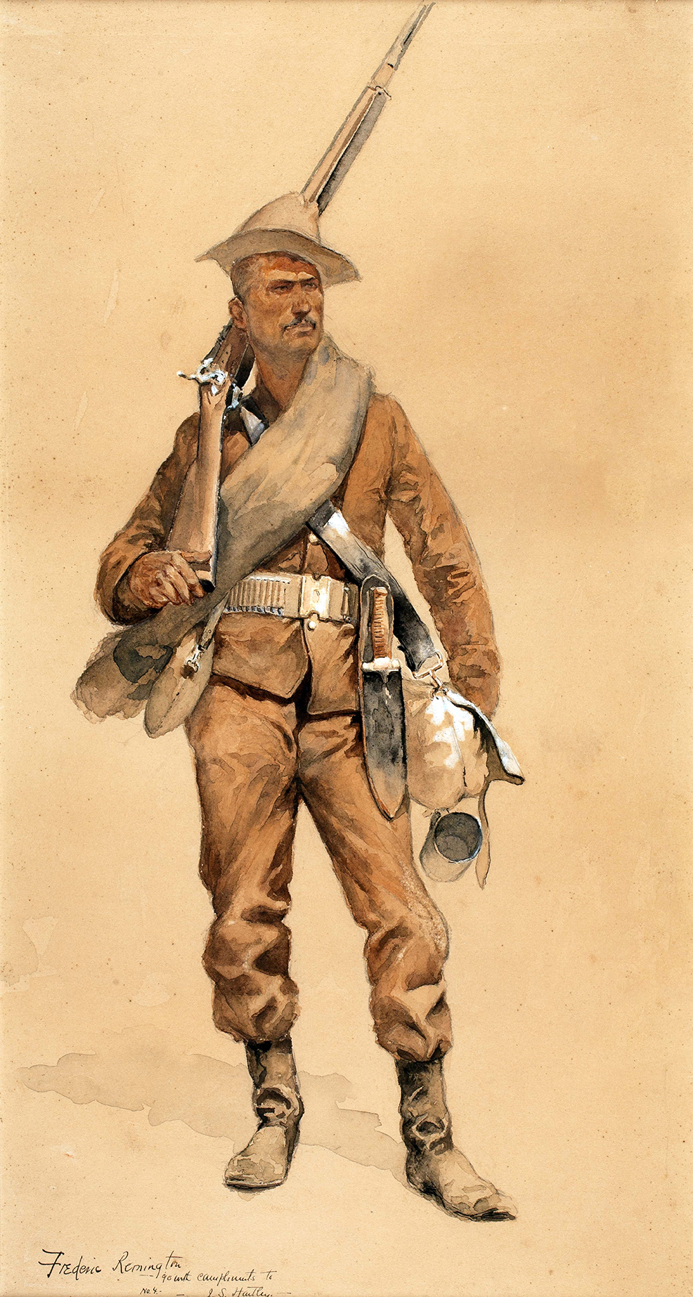 Remington,Frederic,Infantryman in Field Costume,1952.16