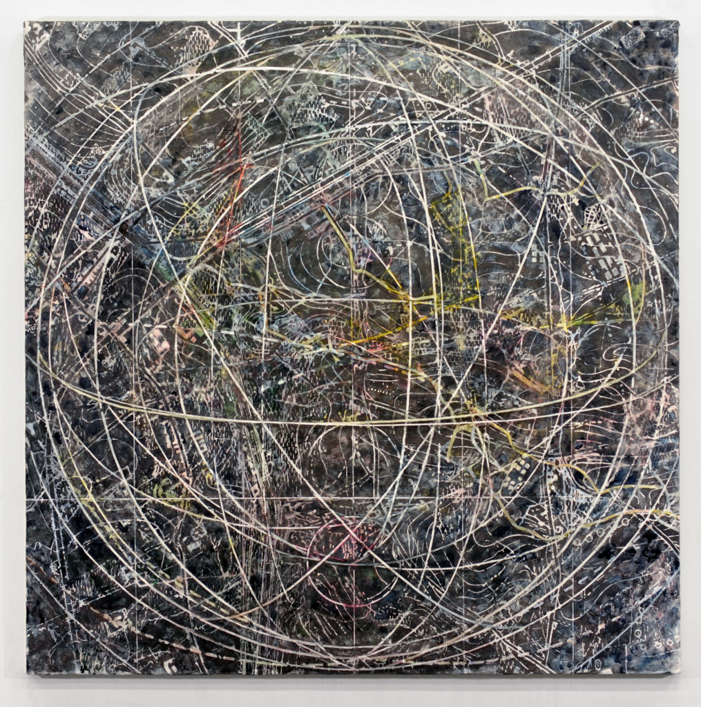 2. Goldsleger, Indeterminate, 2016, mixed media on linen, 54 x 54 inches