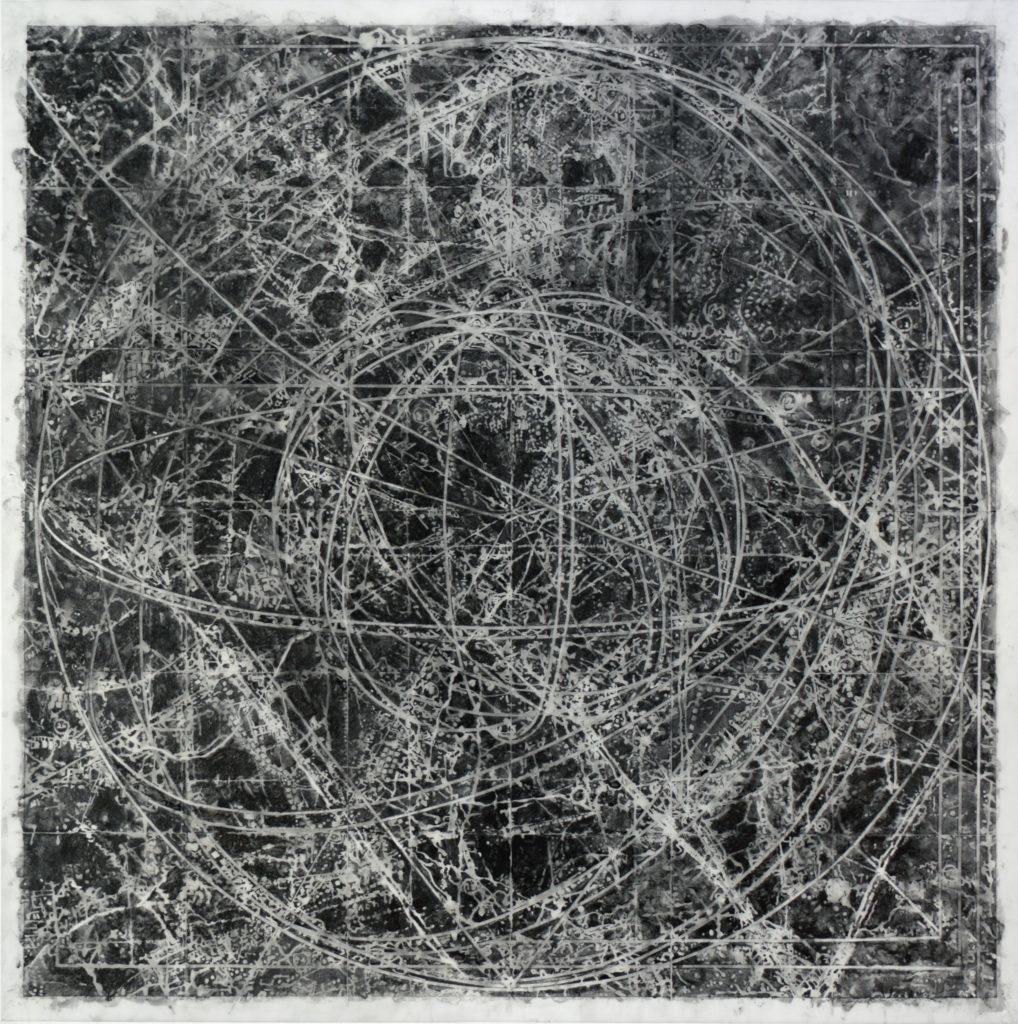 9. Goldsleger, Association, 2015, graphite, mixed media on Dura-Lar, 40 x 40 inches