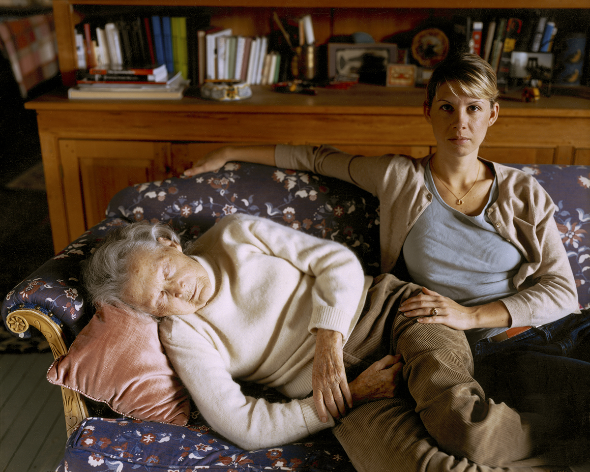 "Virginia Beahan ""Christina and Gram on Thanksgiving"" Lyme, NH, 2004"
