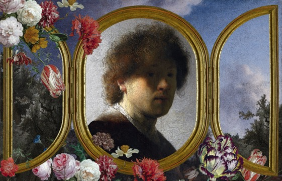 """Herman Mhire """"Rembrandt triptych 2"""" - 5 x 7"""