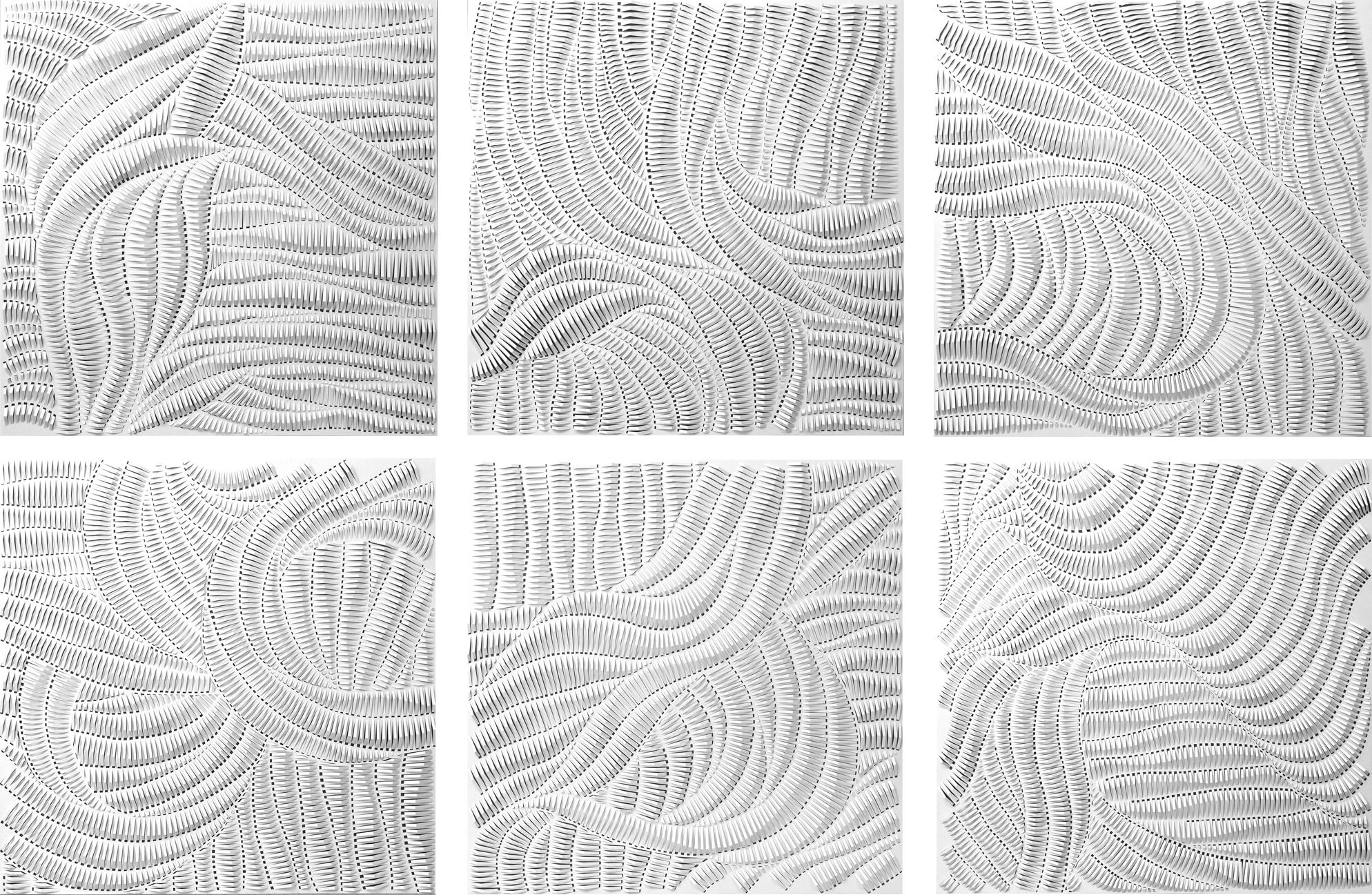 Rachel Doniger (American, b. 1979). Infinity I-VI, 2016. Cut Paper Reliefs. © Rachel Doniger