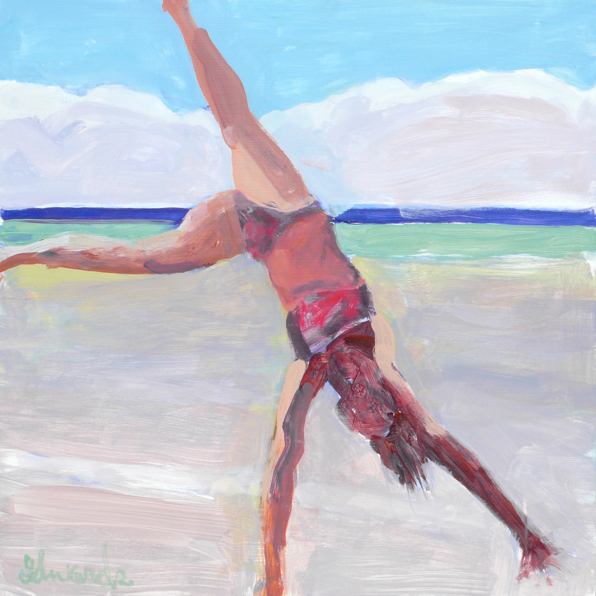 "Herb Edwards ""Cartwheel"", Acrylic - Board, 24""x24"""