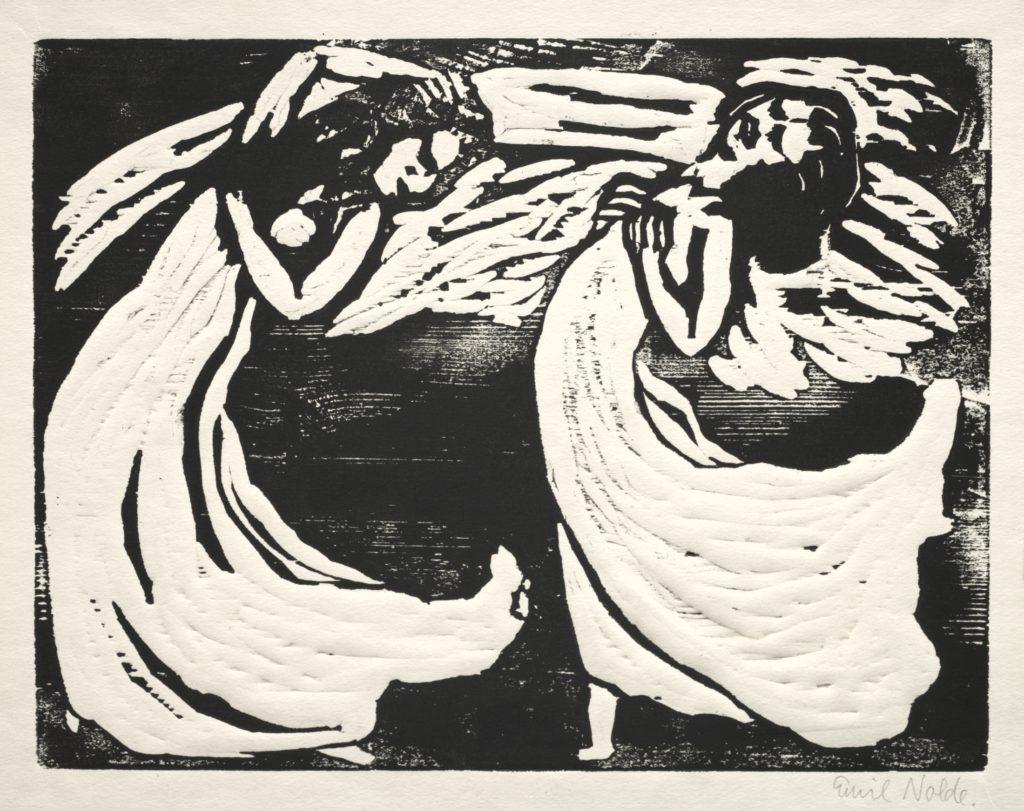 Tanzerinnen (Dancers), 1917. Emil Nolde (German, 1876–1956). Woodcut; 23.8 x 31.2 cm. Delia E. Holden Fund, 1960.158. © Nolde Stiftung Seebüll, Germany