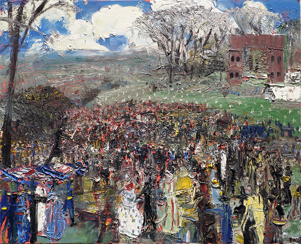 "John-Bradford ""Lincoln Addressing the People at Gettysburg"" 48x60 acrylic and oil on canvas, 2017"