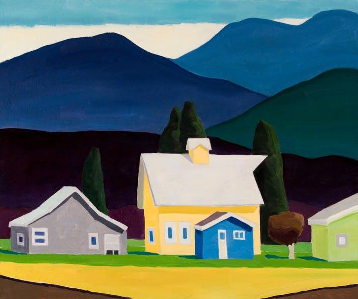 "David Ridgway ""Big Yellow Barn"" 30x 36 Oil on Canvas"
