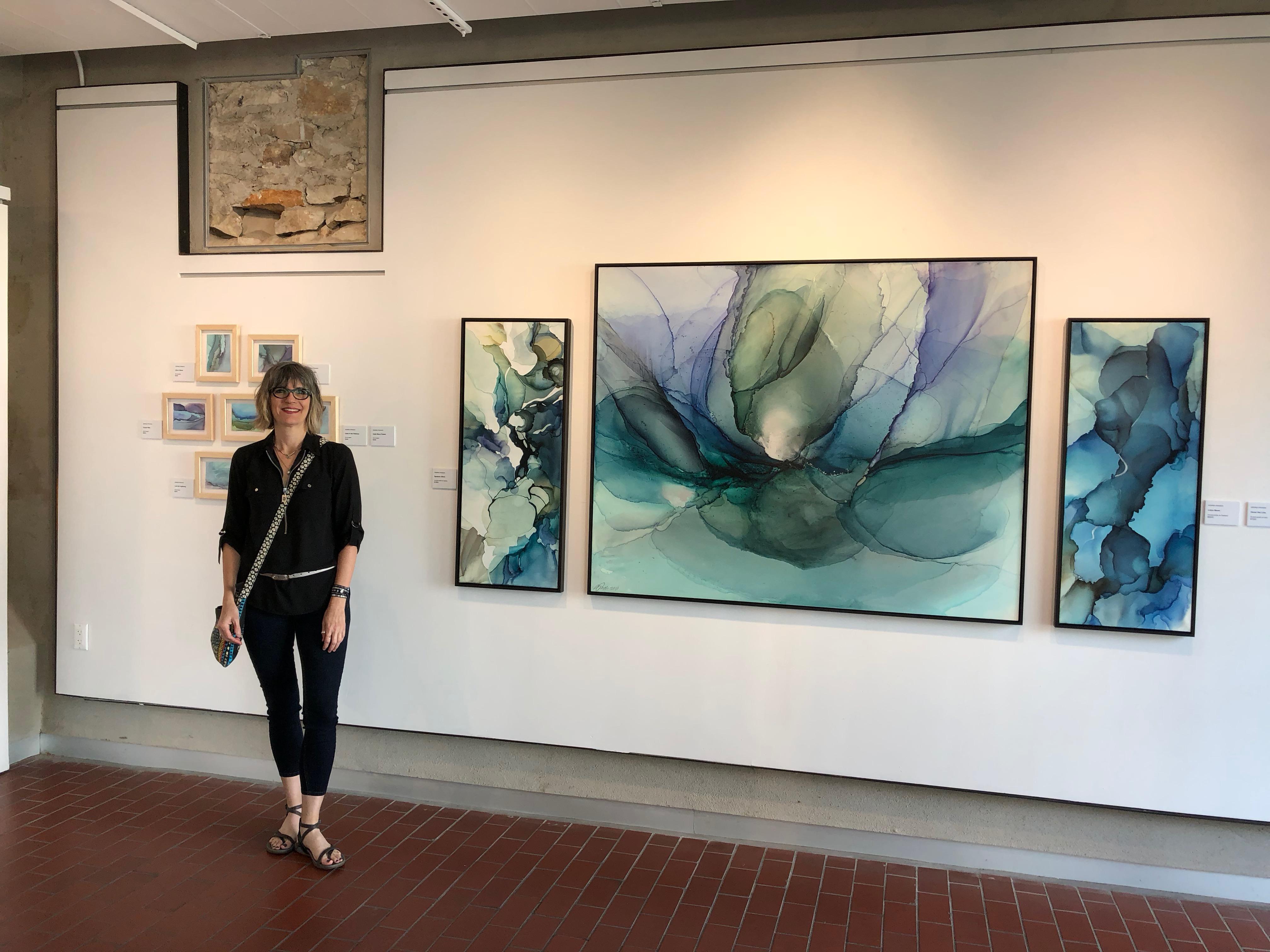 """Andrea Pramuk """"Fluid Worlds"""" Georgetown Art Center June 29 - August 5, 2018"""