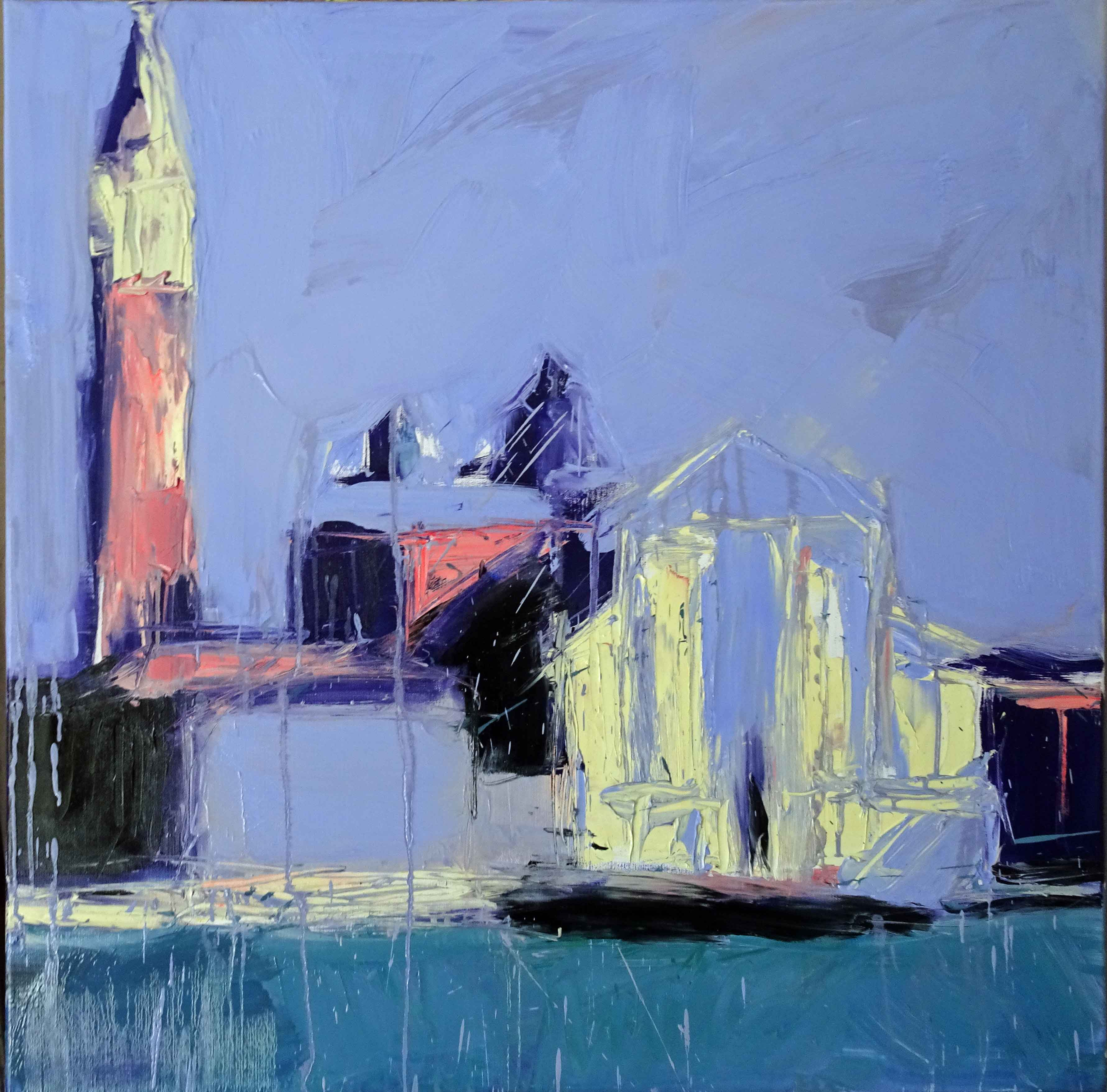 """Venice Violet"" oil on canvas 36""x36"""