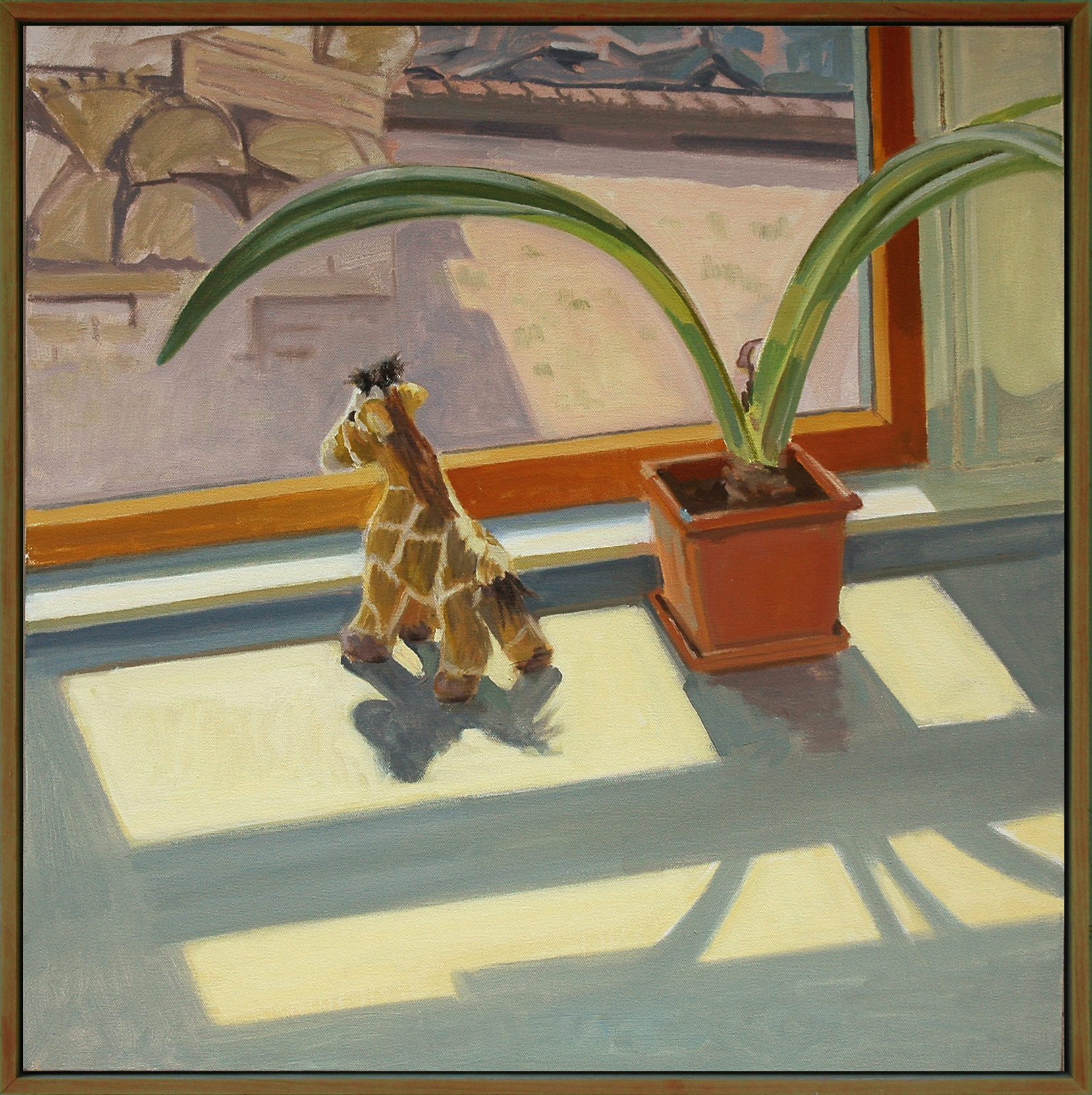 """Earnest on the Lookout"", oil on canvas, 24"" x 24"", 2019"
