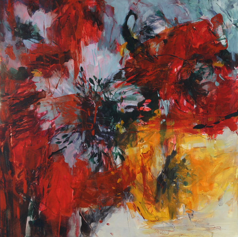Connie Connally Windflower II 2019 30x30 oil on canvas