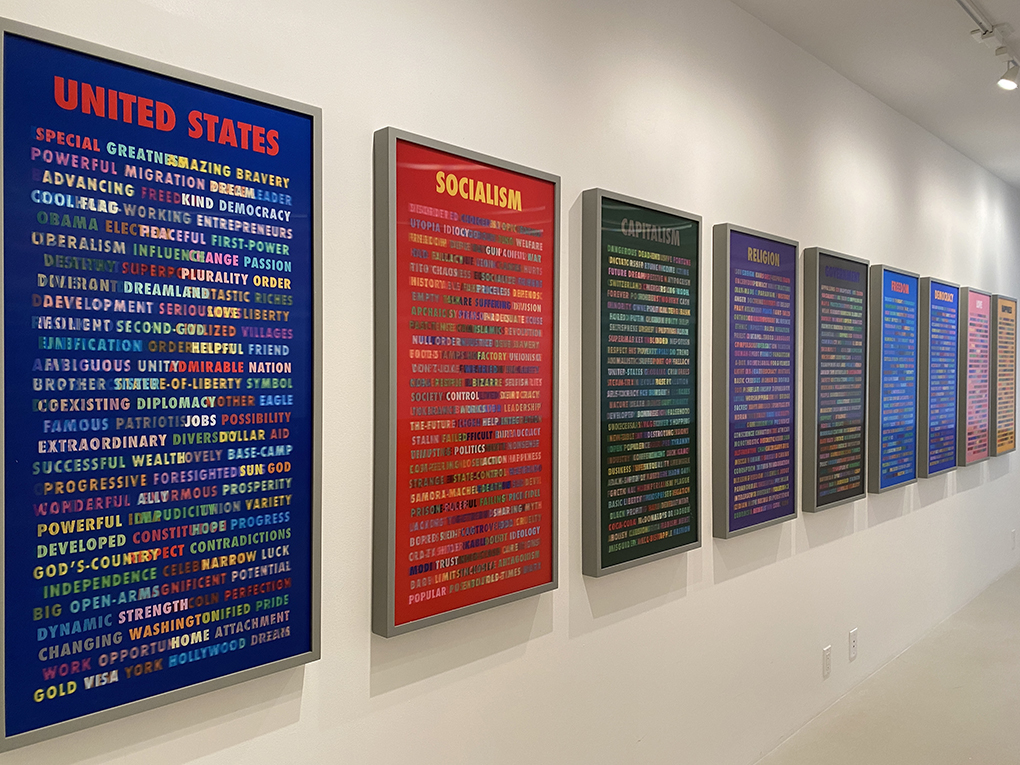 WORDS on WORDS, 2019 Set of 13, Solos, Lenticular Prints 20 x 40 in