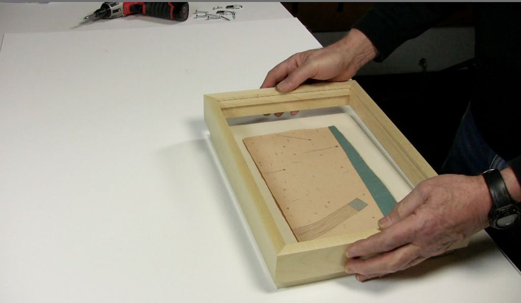 Attaching wood spacer and strainer | Metropolitan Picture Framing