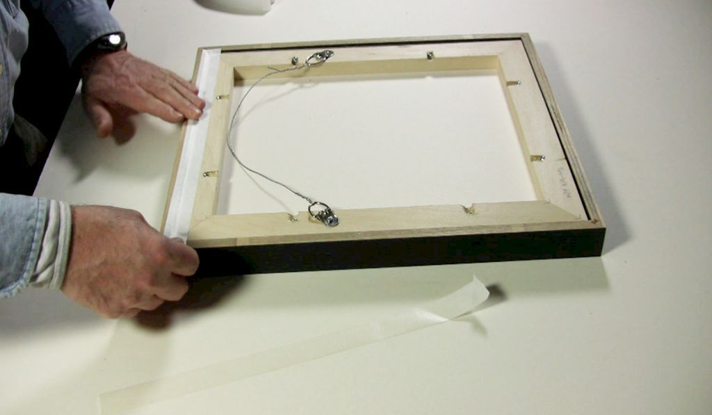 Attaching strap hangers, wire, & bumpers | Metropolitan Picture Framing