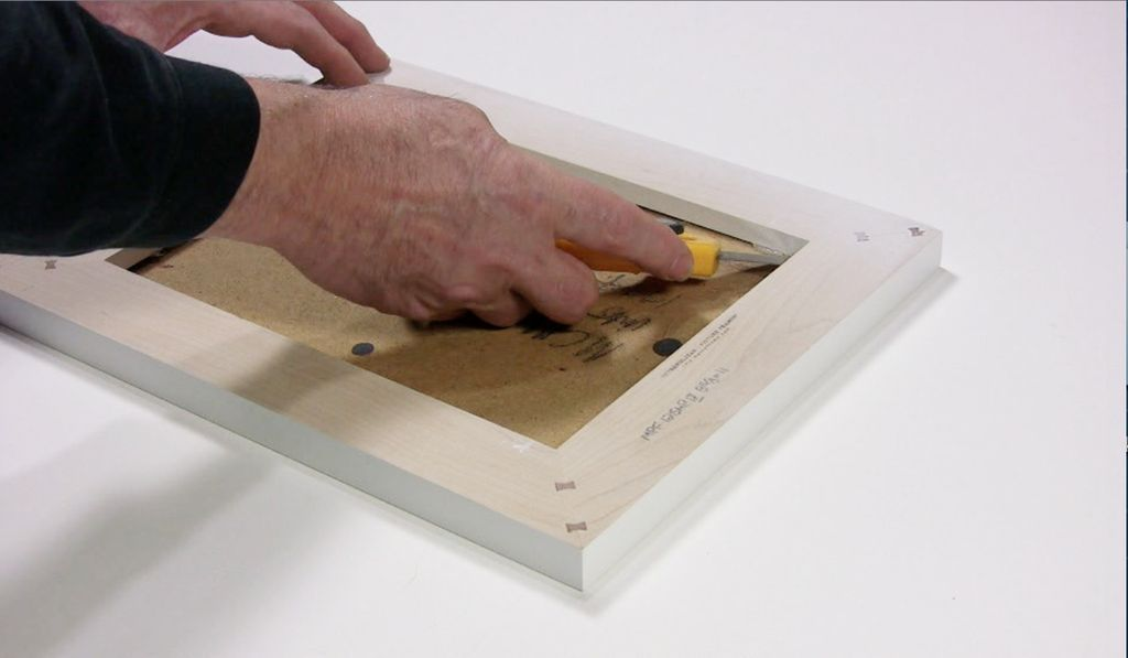 FRAMER'S TIP ATTACHING PAINTINGS ON PANELS TO WOOD FLOATER FRAMES