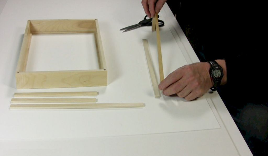 STEP 2 ATTACHING WOOD SPACERS AND STRAINERS
