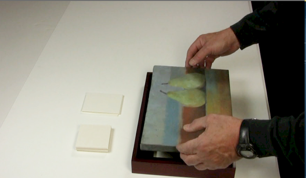 attaching paintings to wood floater frames metropolitan picture