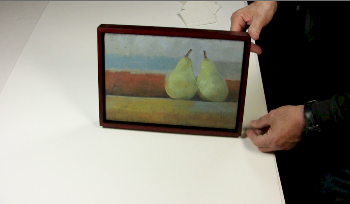 Artwork by: George Peterson ATTACHING PAINTINGS TO WOOD FLOATER FRAMES