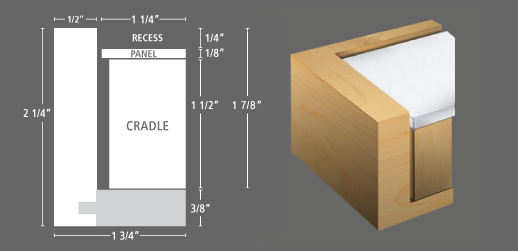 PROFILE 124 Floater frame for panels & floater frames for photographs