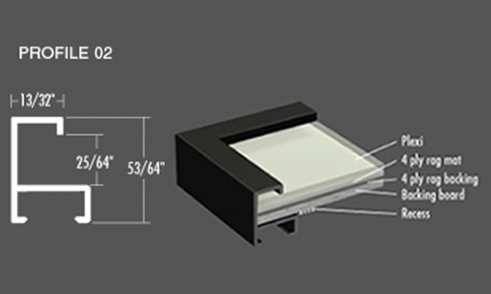 Nielsen Frame - Profile 02 Metal Picture Frame