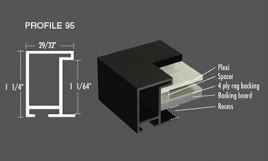 Nielsen Frame - Profile 95 Metal Picture Frames