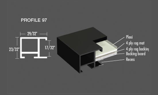 Nielsen Frame- Profile 97 Metal Picture Frames