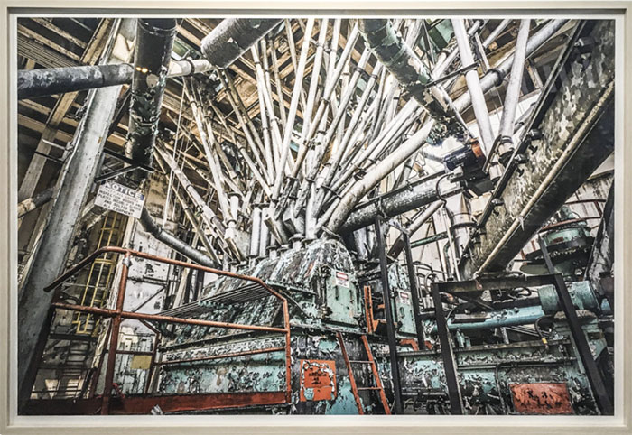 "© Paul Raphaelson ""Sweet Ruin Bin Distributor"", 27"" x 40"", archival pigment print"