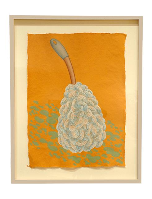 "Heidi Jensen ""Scrubber"" gouache and pastel on Khadi paper, 30"" x 22"", 2017"