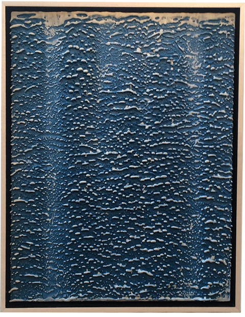 "Alex Wilhite ""Waterfalls"" Encaustic on Wood 30"" x 24"", 2016"