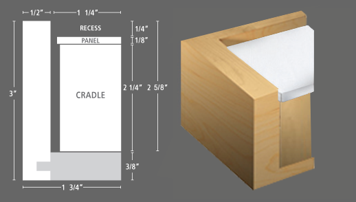 FLOATER FRAME -PROFILE 120 for panels & floater frames for photographs