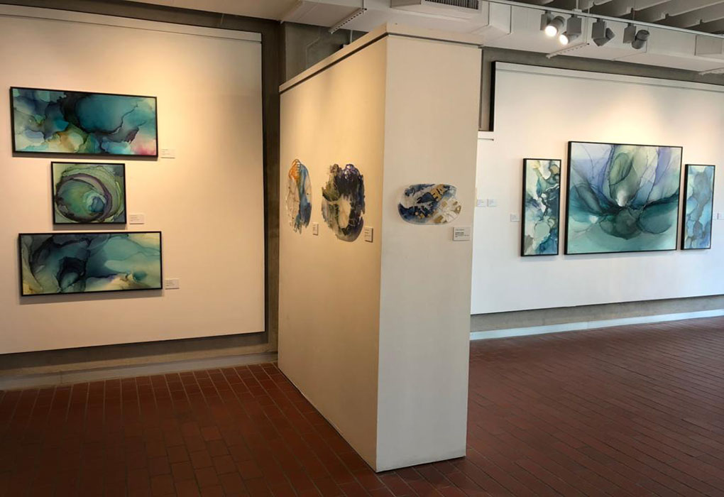 "Andrea Pramuk ""Fluid Worlds""  Georgetown Art Center , Georgetown, TX  July 29 - August 4, 2018"
